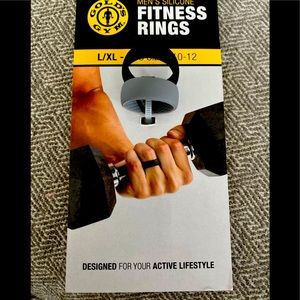 NWOT Gold's Gym Silicone rings